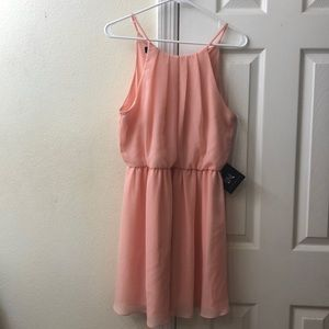 Adorable strappy LBD IN peach, NWT